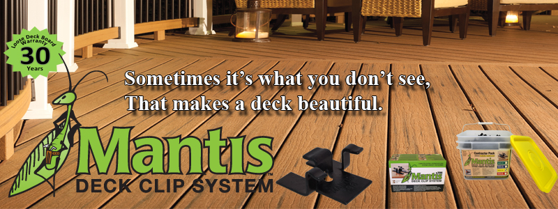 Mantis Hidden Deck Fasteners