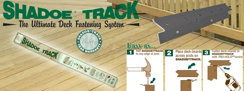 Shadoe Track Hidden Deck Fasteners