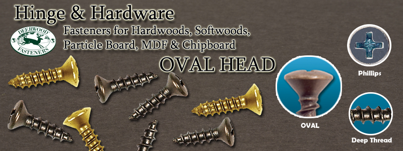 Hinge and Hardware Screws Oval Head